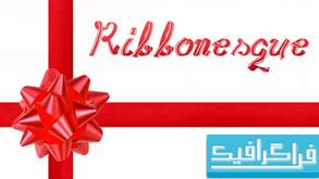 دانلود فونت انگلیسی Ribbonesque