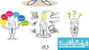 وکتور های کسب و کار - ایده - موفقیت