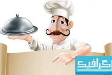 وکتور منوی آشپز