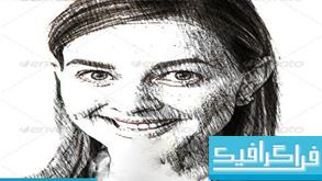 اکشن های فتوشاپ تبدیل به نقاشی مداد