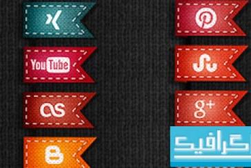 آیکون سایت های شبکه اجتماعی – طرح پرچم