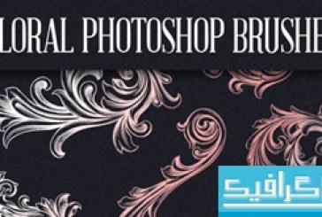 دانلود براش فتوشاپ گل های تزئینی – شماره 3