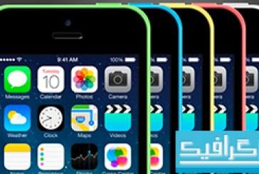 فایل لایه باز ماک آپ iPhone 5C