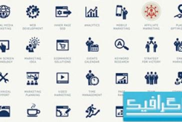 آیکون های سئو و توسعه وب