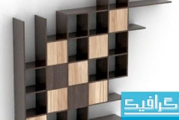 مدل سه بعدی طاقچه چوبی