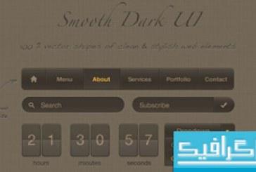 فایل لایه باز عناصر صفحه وب Smooth Dark UI