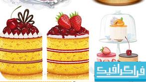 وکتور های شیرینی و کیک