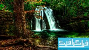دانلود والپیپر آبشار Waterfall Forest