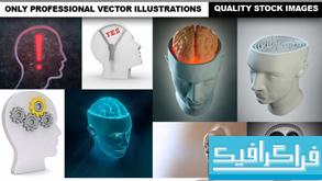 دانلود تصاویر استوک مغز و سر انسان سه بعدی