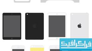 فایل لایه باز محصولات اپل با طرح فلت