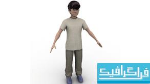 مدل سه بعدی پسر بچه