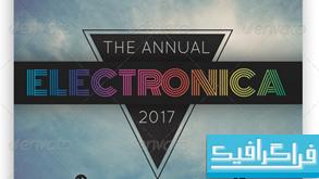فایل لایه باز پوستر Electronica
