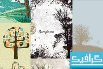 دانلود 20 وکتور درخت با زمینه های مختلف