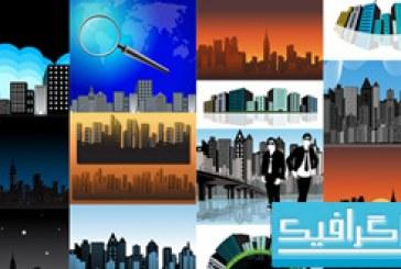 وکتور ساختمان های مناطق شهری