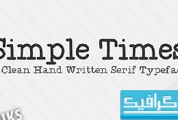 دانلود فونت انگلیسی Simple Times
