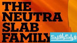 دانلود فونت های انگلیسی The Neutra Slab Family