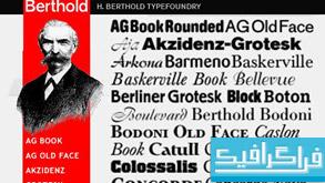 دانلود فونت های انگلیسی Berthold