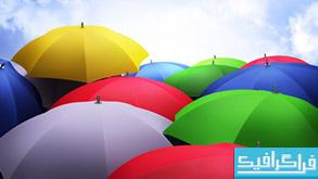 دانلود والپیپر چتر Colorful Umbrella