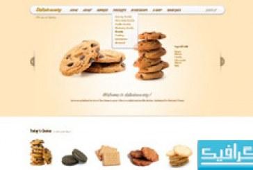 قالب پی اس دی سایت Delicious