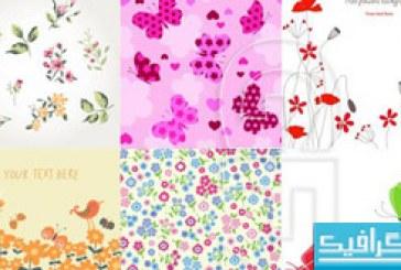 وکتور های گل