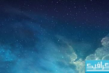 دانلود والپیپر گالاگسی iOS 7 Galaxy