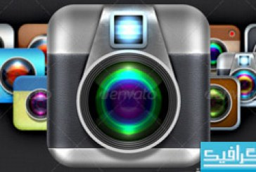 اکشن فتوشاپ ساخت آیکون دوربین iOS