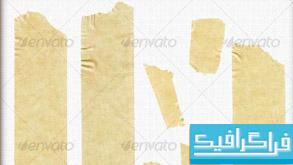 فایل لایه باز چسب نواری بریده شده