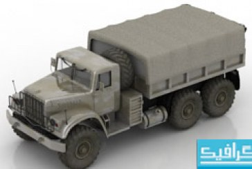مدل سه بعدی کامیون نظامی