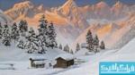 دانلود والپیپر نقاشی Mountain Winter Painting