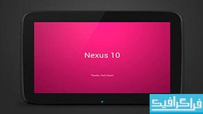 فایل لایه باز ماک آپ تبلت Nexus 10