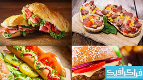 دانلود تصاویر استوک غذاهای فست فود