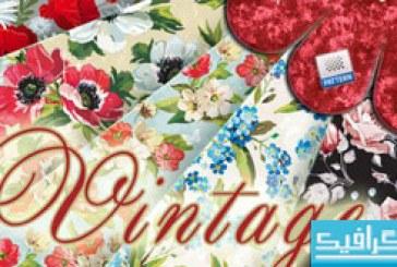 پترن های فتوشاپ گلدار با طرح قدیمی – شماره 2