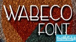دانلود فونت انگلیسی Wabeco