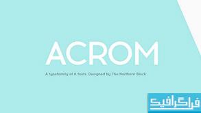 فونت انگلیسی Acrom