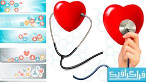 وکتور بنر سایت با طرح های پزشکی