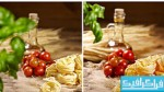 دانلود تصاویر استوک پاستا و گوجه فرنگی