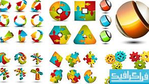 دانلود لوگو های مختلف با طرح پازل