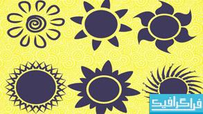 دانلود براش های فتوشاپ خورشید