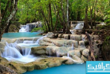 دانلود والپیپر آبشار Tropical Waterfall