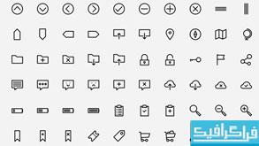 دانلود 150 آیکون خطی - Outlined Icons