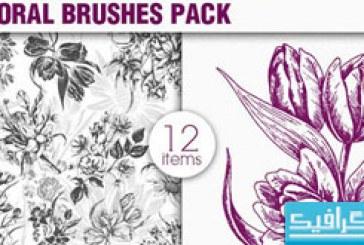 دانلود براش فتوشاپ گل های تزئینی – شماره 7