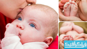دانلود تصاویر استوک مادر و نوزاد