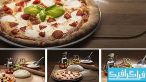 دانلود تصاویر استوک پیتزا و پاستا با مواد مورد نیاز