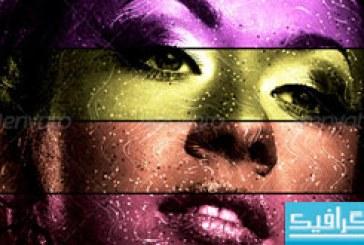 دانلود اکشن فتوشاپ ایجاد خطوط رنگین کمانی