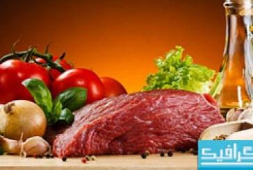 دانلود تصاویر استوک گوشت خام و پیاز