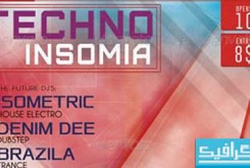 دانلود فایل لایه باز پوستر Techno Insomia