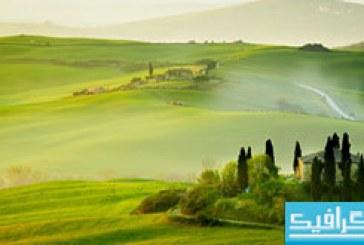 دانلود والپیپر طبیعت Tuscany Spring Landscape