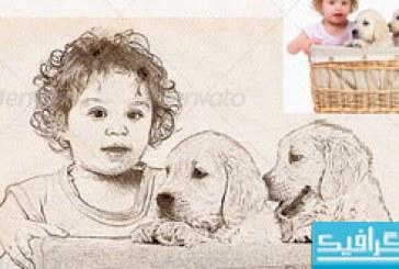 اکشن فتوشاپ تبدیل عکس به نقاشی مداد – شماره 4