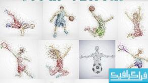 وکتور های ورزشی با طرح انتزاعی