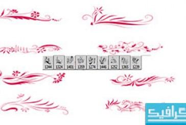 دانلود براش های فتوشاپ گلدار – شماره 4